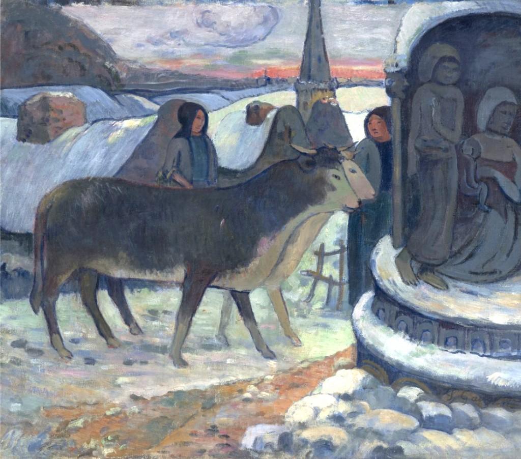 ChristmasNight-TheBlessingOfTheOxen-PaulGauguin