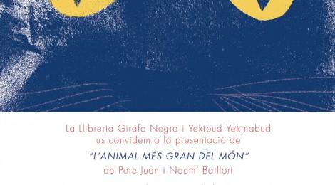 """4 DE NOVIEMBRE DE 2017: """"L'ANIMAL MÉS GRAN DEL MÓN"""" Y CRISSPETA EN GIRAFA NEGRA, BADALONA"""