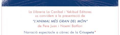 """7 D'ABRIL: """"L'ANIMAL MÉS GRAN DEL MÓN"""" A LA LLIBRERIA LA CANÍBAL: CONTACONTES I TALLER D'ESTAMPACIÓ"""